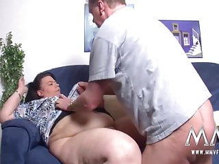 MMV FILMS German feeder loves to fuck his BBW wife