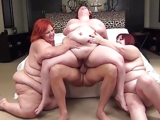 3 BBWs redheads and 1 lucky guy
