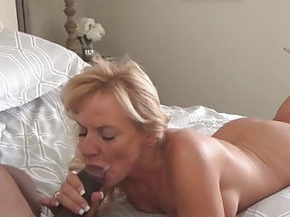 blonde milf loves black cock