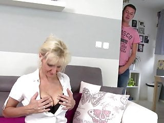 Gorgeous mothers fucked by their young lovers