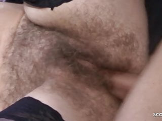 Most Hairy Pussy MILF in the World Seduce to Fuck GERMAN