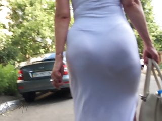 Bubble butts milfs shaking in tight dress