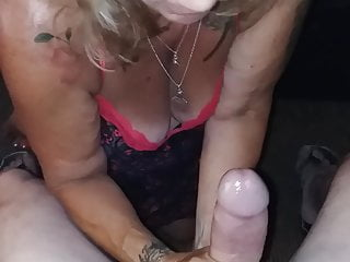 OneTrue57Blonde Jacking and a Squeezing Old Bull's BIG Cock.