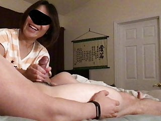 Asian Mature Wife Handjob Cumshot