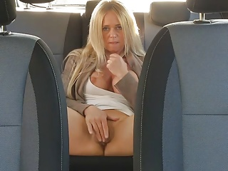 MILF FUCKS PUBLIC IN CAR IN FRONT OF SHOP HUGE TITS - PART 2