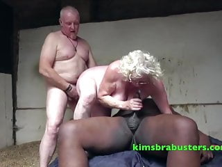 Claire Knight touching black and white cocks