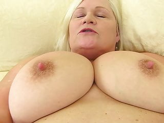 Big chested granny with wild hungry pussy