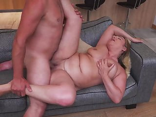 Chubby mature mother fucks toy boy