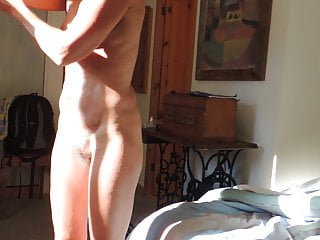 My Long Nipples mature Lady oiling her body after shower