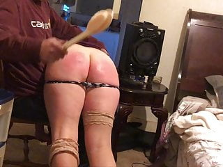 Naughty brat gets the brush