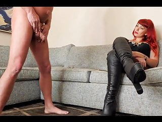 Playing with her Chastity Slave