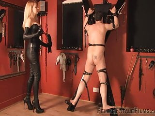 Mistress punishes a slave
