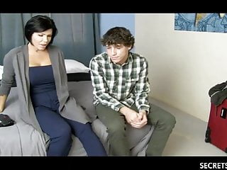 Sexy Stepmom And Young Stepson Share A Hotel Room