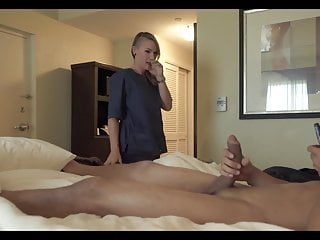 Hotel maid cant recist flashed cock