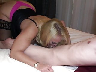 MOM having FUN with her young boy - SHE LEFT HIM DRY