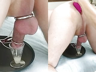 Wife sits on his face then milks his prostate with e-stim