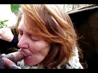 Cheap Toothless Mature Whore Fucked Without Condom in Forest