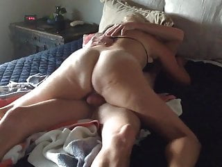 Nympho Wife Cums Hard as Cuck Husband Films