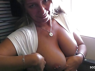 Flash in Plane and Fuck on Holiday - German Mom got crazy