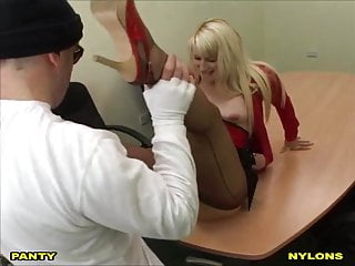 Sally is a naughty office girl.