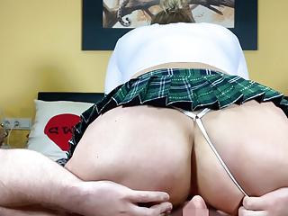 Facesitting private date filmed and censored Big Ass MILF