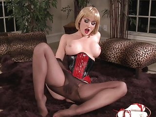 Angela Sommers Pantyhose Tease