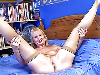 Mature British blonde wife with black cock