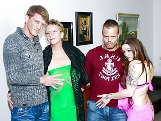 AmateurEuro - Amazing 4some Party With Erna & Adrienne Kiss
