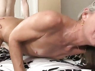 Skinny boy with long cock fucks divorced MILF