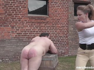 Stableman Punishment - Merciless Paddling by Mistress Inka