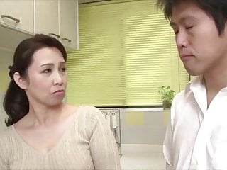 Japanese hot mom cheating with stepson