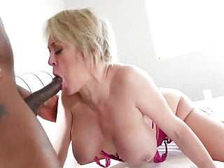 Sharon Darling Fucking Neighbor and Licking Black Ass Cock