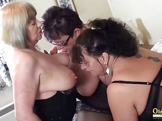 OldNannY Three British Matures In Hardcore Action