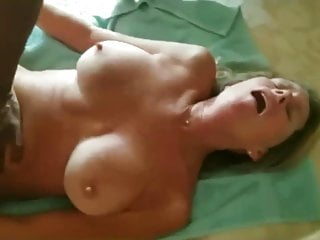 Wife chokes huge black dick