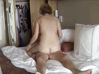 Mature stays on top after creampie