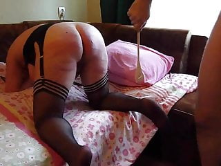 Hard painful ass beating with different implements