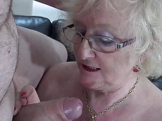 Dirty granny sucks and fucks young big cock